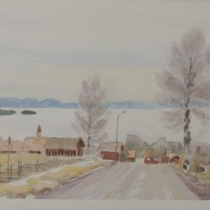 Utsikt från Tällberg mot Siljans is